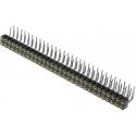 Tiras de Pin Doble Hembra 2.54mm Torneada Acodadas 90º