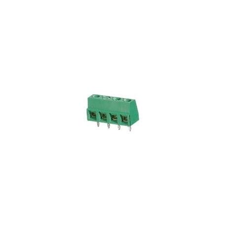 Bornes circuito impreso Recto paso 5mm 4pin verde