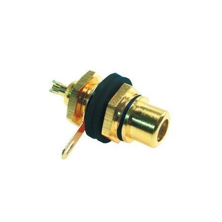 Conectores RCA hembra Panel Gold Prof
