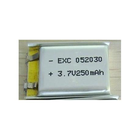 Micro Celulas Li-Po Planas 3.7v.250mA sin Pcm