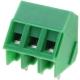 Bornas DG103 apilables Verde 45º paso 5mm