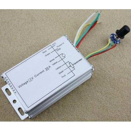 Dimmer PWM Led y Motores 12v. 30A 360w