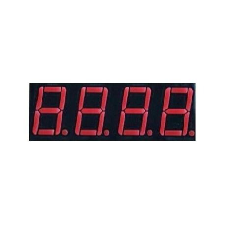 Display Led cuatro dígitos rojo