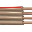 Cable Paralelo 4 Hilos 025mm Polarizado Banda Roja