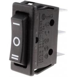 Pulsador basculante 1033C6 (Rocker) 3 posiciones sin retorno