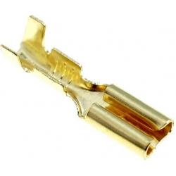 Terminales Faston Hembra 2.8mm Dorado sin reten