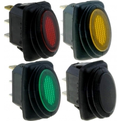Interruptor basculante 1327 IP65 (Rocker) 2 posiciones Neon
