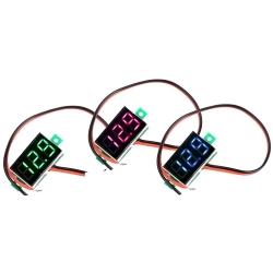 Mini Voltimetro Led 0-30v.2 cables de panel