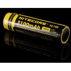 Bateria Nitecore 18650 Protegida NL188 3.7v 3.100mA.