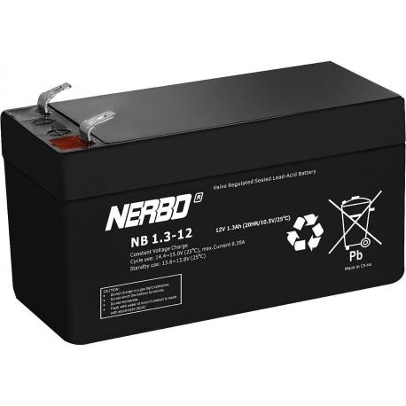 Bateria Plomo Gel recargable de 12v.1.300mA Nerbo