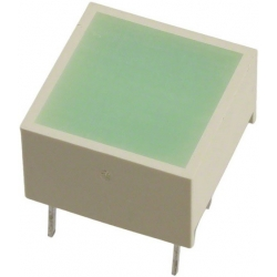 Led Difuso Cuadrado Verde 15x15mm