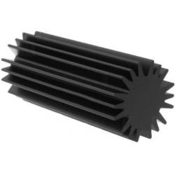 Disipador Térmico Negro de Aluminio en Estrella