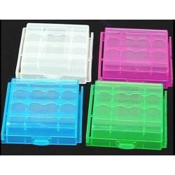 Caja Estuche de protección para Baterías 4 x R6/AA/14500