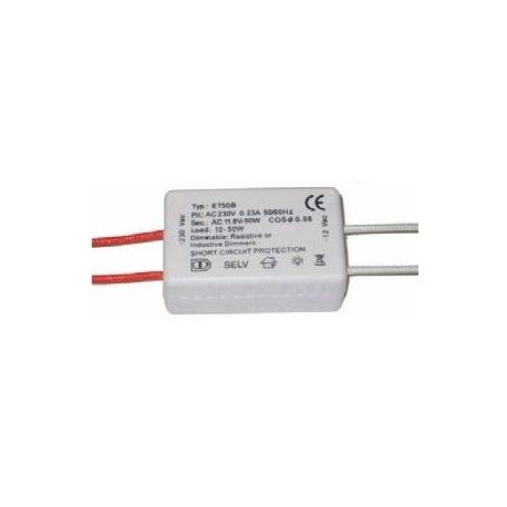 Transformador 12v 50w. 4.2A Cable