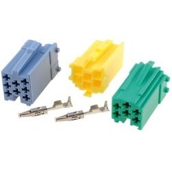 Juego Conectores Mini ISO Machos para Radios de Coches