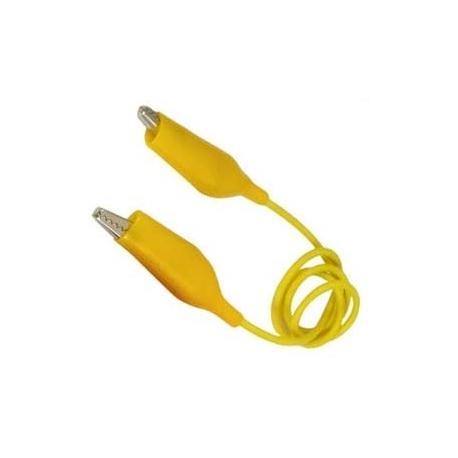 Cables de prueba con pinzas cocodrilo amarillo