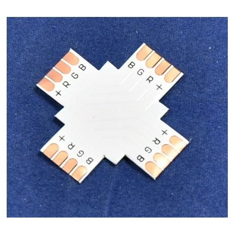 Conector PCB de empalme X de Tiras de Led RGB