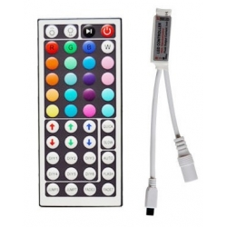 Controlador para Tiras Led RGB 12v- Slim PWM y Mando 44 Teclas