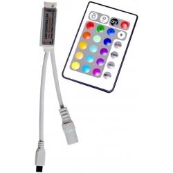 Controlador para Tiras Led RGB 12v-Slim PWM y Mando 24 teclas