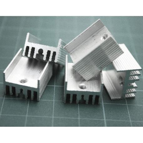 Disipador Térmico Aluminio Extrusionado en H 20x15mm