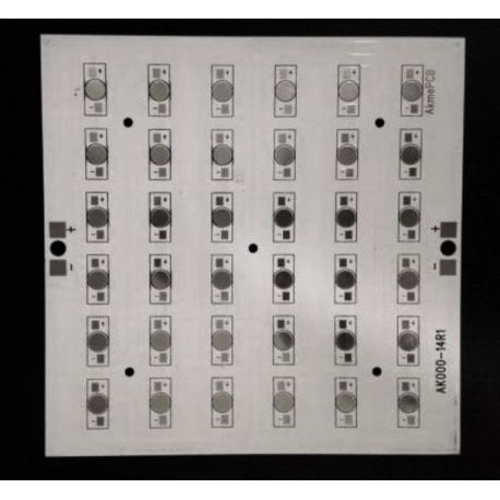 Circuito Impreso 160x160x2mm para 36 Led Lumileds