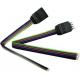 Conectores 4 Pin Negro con cable para Tiras de Led