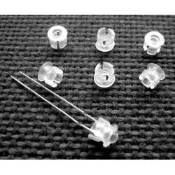 Mirillas de plástico transparente para Led de 3mm