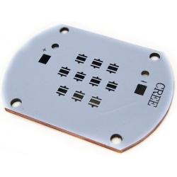 Pcb 55.80x40.30mm para 10 Led CREE XP-G, XT-E