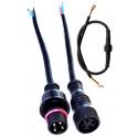 Juego Conector IP65 23mm Negro 5pin con cable