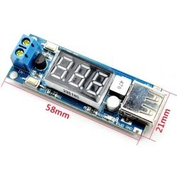 Fuente DC-DC-USB 3 Digitos 4.5-40v a 5V. 2A.