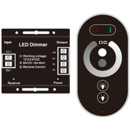 Dimmer Touch control para Led RGB o 3 canales 12/24v.432w