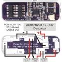 PCM 3S para Baterías de Litio 11.1v Litio LI03S
