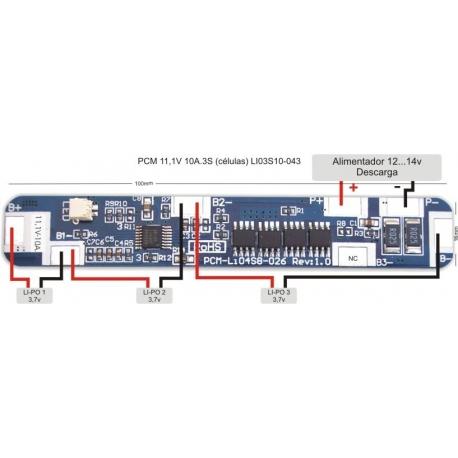 PCM 11,1V 10A. LI03S10-043