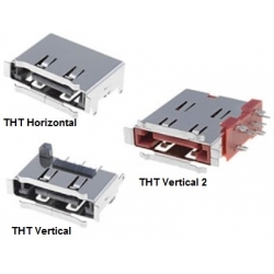 Conector Hembra SATA THT