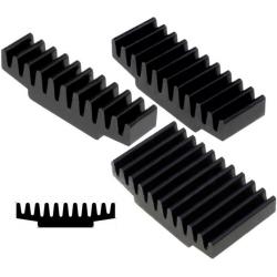 Disipador Térmico Recatangular de Aletas 30x10x7.5mm