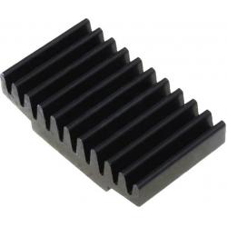 Disipador Térmico Recatangular de Peines 30x17x7.5mm