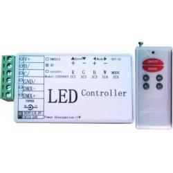 Controlador Pixel Led 5-12v. con mando RF