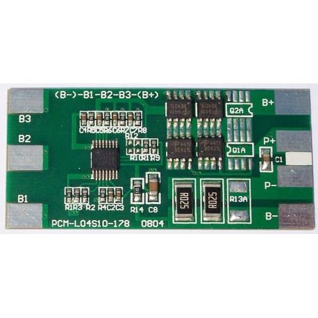 PCM para Baterías Li-Po 14.8v-7A.LI04S10-178-7A