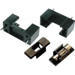 Portafusible 5x20mm con tapa negra ZH12