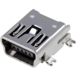 Conector Micro USB-B Hembra PCB SMd 5 pin S-RA