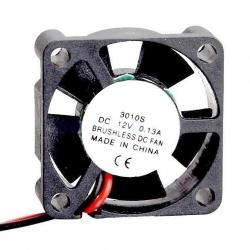 Ventilador refrigeración de disipadores de 30x10mm 12v.