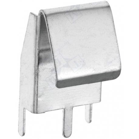 Clip Portapilas metálico baterías AA