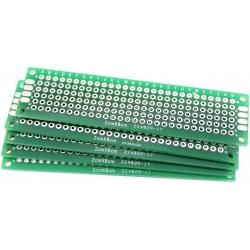 """Circuitos Impresos """"PCB"""" taladrados FR4 2x8cm"""