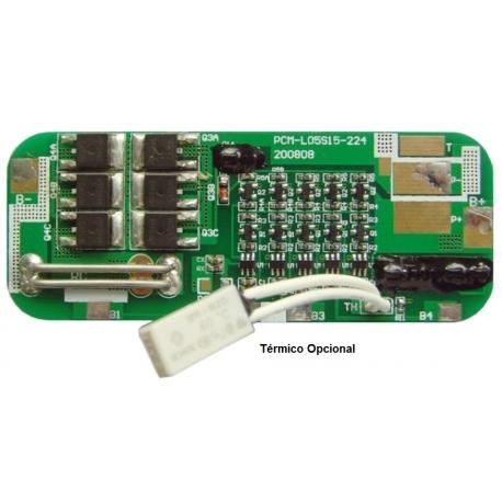 PCM para Baterías de Litio-Li-Po 18.5v L05S15-224