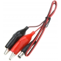 Cables con Pinzas Cocodrilo y Conector Jack de Alimentación