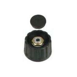Boton Negro con tuerca 15x15mm
