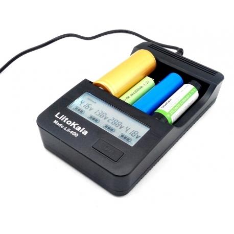Cargador LiitoKala LI400 USB 4 bahías para Litio