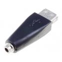 Adaptador USB Hembra a Jack 3.5 Hembra