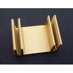 Disipador Térmico en U 49x33x24mm Dorado
