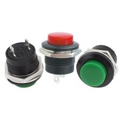 Pulsadores de panel reforzado de 19x13mm